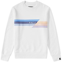 Rag And Bone Printed Logo Sweat White