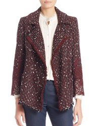 Escada Lace And Boucle Blazer Marsala