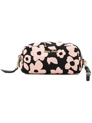 Miu Miu Floral Make Up Bag Black