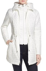 Women's Laundry By Shelli Segal Quilted Jacket With Hooded Inset Cloud