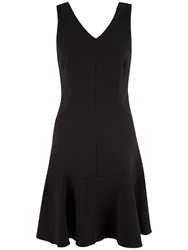 Almari V Neck Flared Dress Black