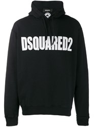 Dsquared2 Logo Hooded Sweater Black
