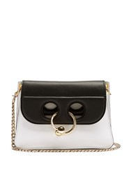 J.W.Anderson Pierce Mini Leather Cross Body Bag Black White