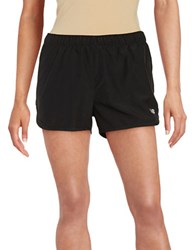 New Balance Contrast Athletic Shorts Black