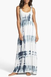 Daniel Buchler Tie Dye Maxi Dress Blue