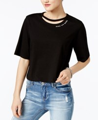 Guess Sorry Not Sorry Cutout Top Jet Black