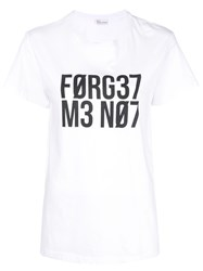 Red Valentino 'Forget Me Not' T Shirt White