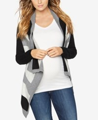 A Pea In The Pod Maternity Open Front Cardigan Navy