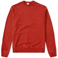 Aspesi Garment Dyed Crew Sweat Red