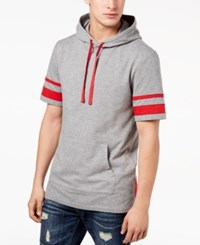 American Rag Men's Striped Hoodie Created For Macy's Grey