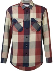 Julien David Flap Pocket Shirt Red