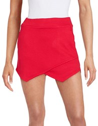 Kensie Asymmetrical Mini Skort Candy Apple