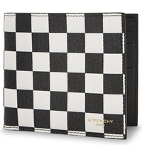 Givenchy Checkerboard Leather Wallet Blk White