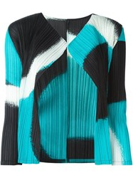 Issey Miyake Pleats Please By Abstract Pattern Cardigan