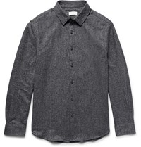 Club Monaco Slim Fit Cotton Twill Shirt Charcoal