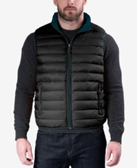 Hawke And Co. Outfitter Outfitters Men's Reversible Packable Vest Dark Teal Carbon