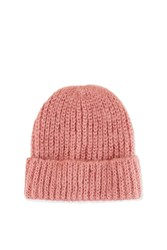 Topshop Turn Up Beanie Hat Pink