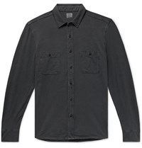 Faherty Seasons Slim Fit Garment Dyed Slub Cotton Shirt Black