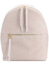 Borbonese Classic Zipped Backpack Neutrals