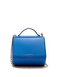 Givenchy Pandora Box Mini Leather Cross Body Bag Blue