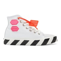 Off White Vulcanized High Top Sneakers