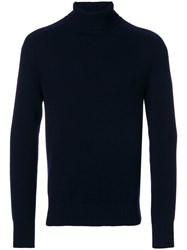 Tomas Maier Cashmere Knitted Sweater Men Cashmere 40 Blue
