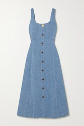 Adam By Adam Lippes Denim Midi Dress Light Blue
