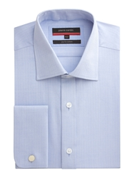 Pierre Cardin Herringbone Shirt Light Blue