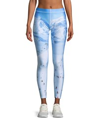 Terez Ski Trip Printed Ankle Performance Leggings Multi