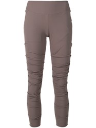 Lost And Found Ria Dunn Draped Skinny Trousers Grey