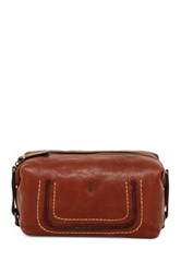 Frye Anna Leather Cosmetic Case Metallic