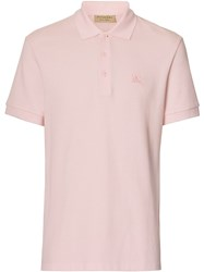Burberry Check Placket Polo Shirt Pink