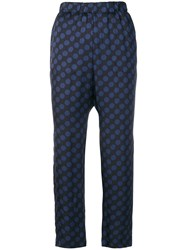 Kiltie Polka Dotted Trousers Blue