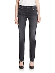 J Brand High Rise Straight Leg Jeans Anthracite