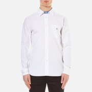 Vivienne Westwood Anglomania Men's Detachable Details Shirt White Chambray