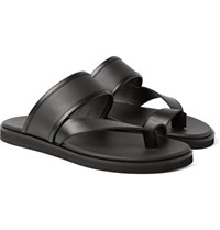 Want Les Essentiels Mateos Leather Sandals Black