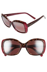 Maui Jim Women's 'Orchid' 56Mm Polarized Sunglasses Tortoise Raspberry Rose Tortoise Raspberry Rose