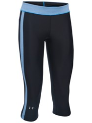 Under Armour Heatgear Sport Capris Black Blue