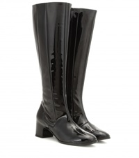 Balenciaga Patent Leather Knee High Boots Black