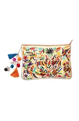 Steve Madden Steven By Embroidered Animal Clutch