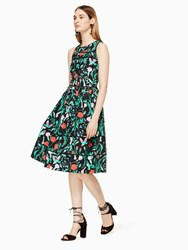 Kate Spade Jardin Poplin Dress Black