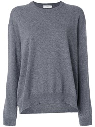 Pringle Of Scotland Round Neck Cashmere Jumper Cashmere Grey