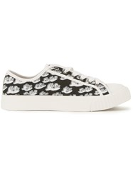 Julien David Waves Print Sneakers Black