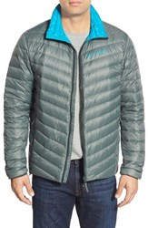 Men's Helly Hansen 'Verglas' Quilted Water Repellant Down Jacket Rock