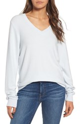 Wildfox Couture Women's V Neck Pullover Blue Pearl