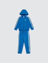 Adidas Originals New Icon Hoodie And Pants Set Blue