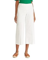 Ralph Lauren Wide Leg Crop Pants White