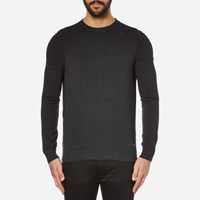 Boss Orange Men's Albinon Crew Neck Knitted Jumper Dark Grey