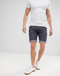 Tom Tailor Slim Fit Drawstring Chino Shorts In Spot Blue