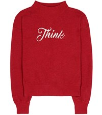 Etoile Isabel Marant Loby Cotton Blend Sweatshirt Red
